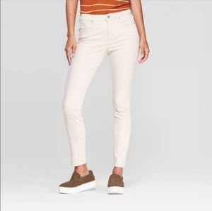 Universal Thread Off White High Rise Skinny Jeans
